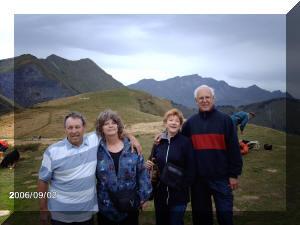 Bertrand, Chantale, Aline et Jean-Pierre (trésorier)